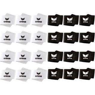 Tib scratch 24 paires Erima (blanc et noir)