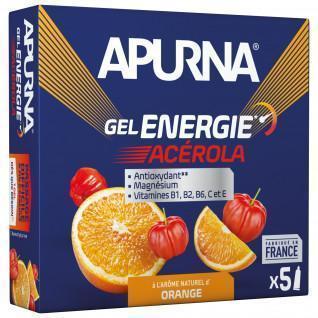 Lot de 5 gels Apurna Energie Acérola Orange - 35g