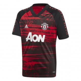 Maillot junior échauffement Manchester United 2020/21