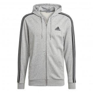Sweatshirt à capuche adidas Essentials French Terry 3-Bandes Full-Zip