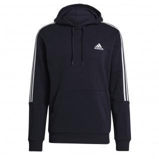 Sweatshirt à capuche adidas Essentials Fleece Cut 3-Bandes