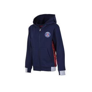 Sweatshirt enfant PSG zip logo stripes