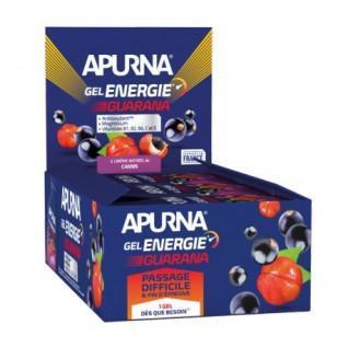 Lot de 24 gels Apurna Energie guarana cassis - 35g