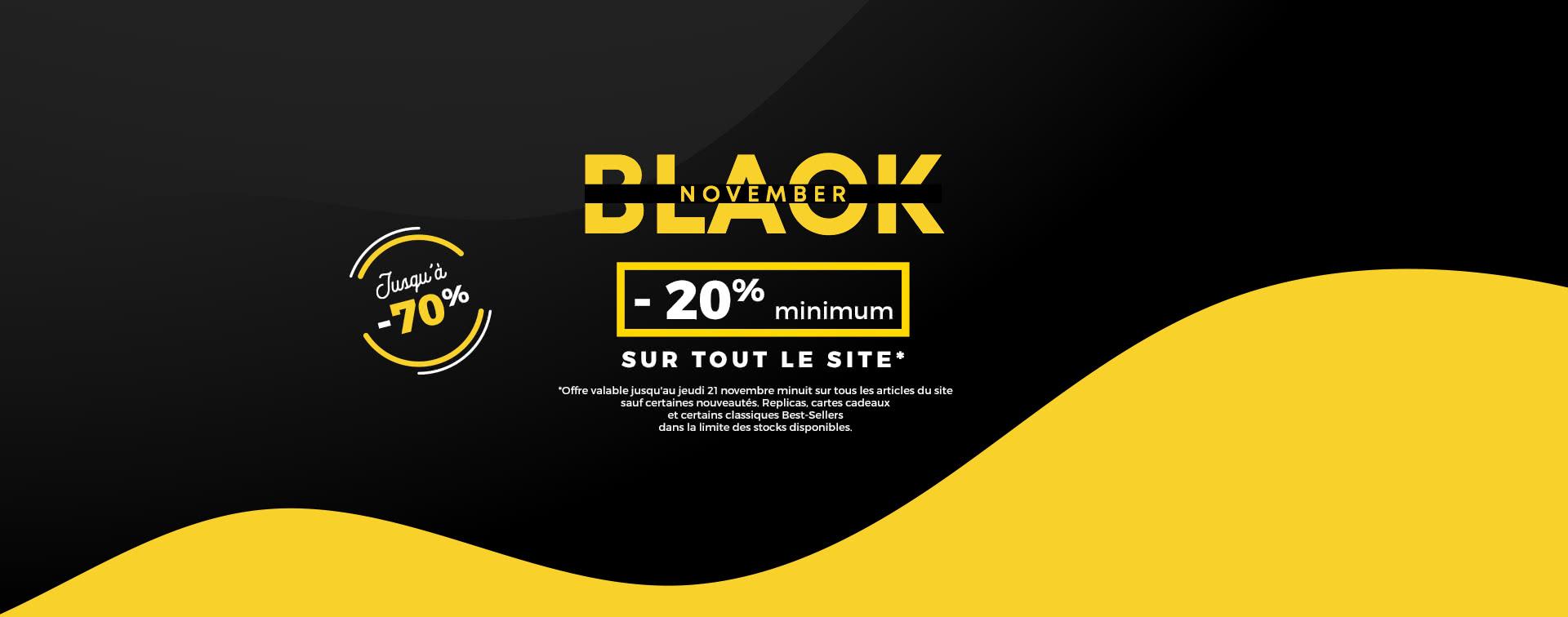 Black November jusqu'à -70%