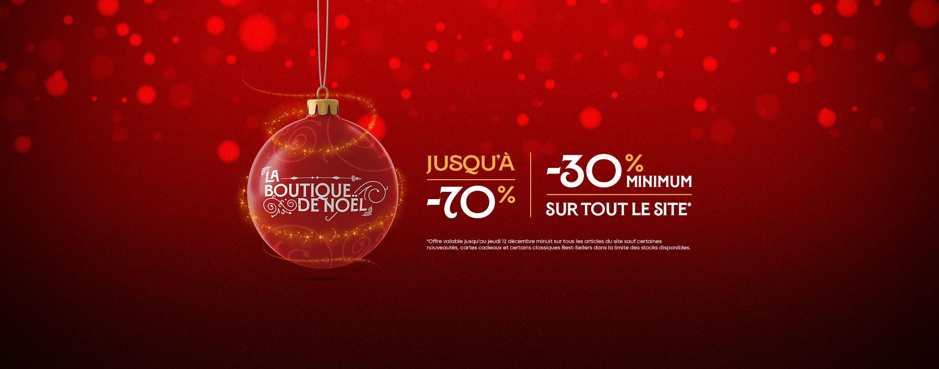 Boutique de Noël jusqu'à -70%