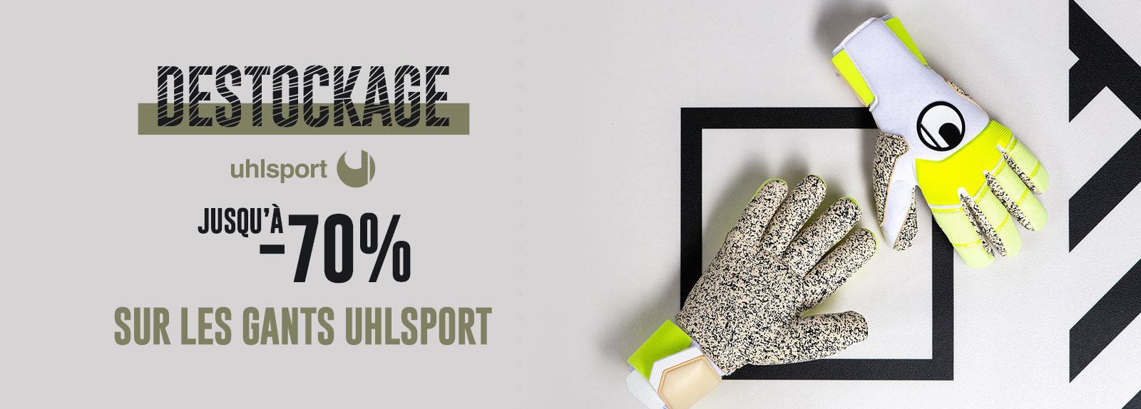 Destockage sur les gants Uhlsport