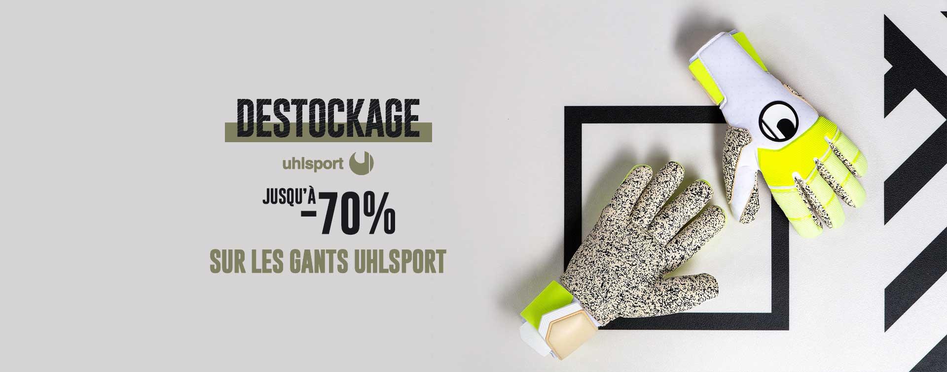 Jusqu'à -70% sur les gants Uhlsport