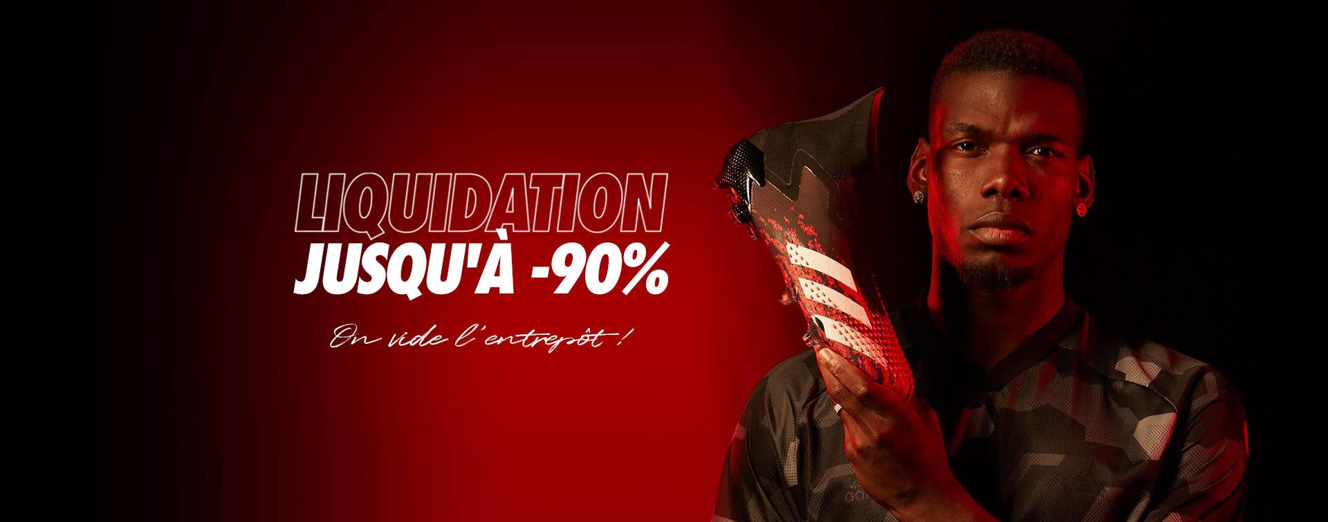 Liquidation jusqu'à -90%