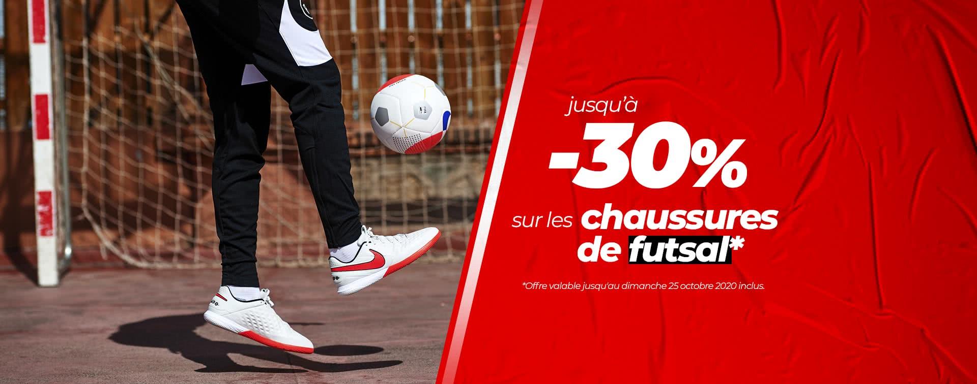 -30% sur les chaussures de futsal